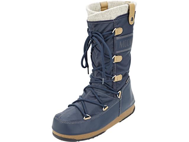 Moon Boot Monaco Felt WP Stiefel Damen denim blue